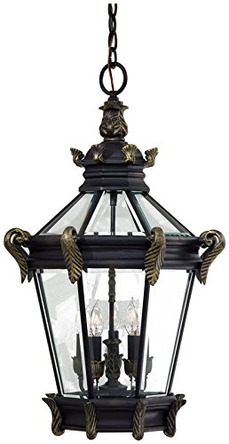 Minka Lavery Outdoor Pendant Lighting 8934-95, Stratford Hall Aluminum Ceiling Lighting for Patio, 200 Watts, Heritage -