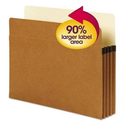 Smead SuperTab File Pocket, Oversized Straight-Cut Tab, 3-1/2