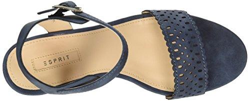 Esprit Gessie Sandal, Sandalias con Cuña para Mujer Azul (400 Navy)