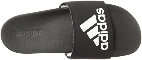 Adilette Women's Black Comfort White Slides Core Footwear Core adidas Black faq545