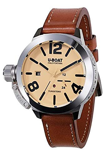 U-boat Classico Mens Analog Swiss Automatic Watch with Leather Bracelet 8071