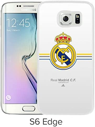 Encantador y Agradable Samsung Galaxy S6 Edge diseño de la Carcasa con Real Madrid Blanco Carcasa para Samsung Galaxy S6 Edge: Amazon.es: Electrónica