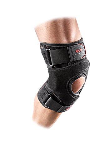 McDavid MD4205 Versatile Knee Wrap with Hinge Straps, Large, Black