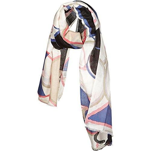 kinross-cashmere-bicycle-print-scarf-straw-multi