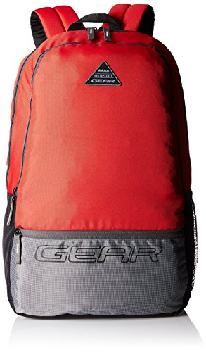 Gear 24 Ltrs Red and Grey Casual Backpack (METBPECO60904)
