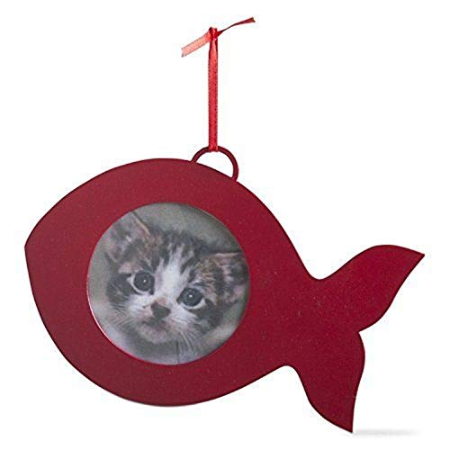 (TRADE ASSOCIATE GROUP Fish Shaped Photo Ornament, 1 EA)