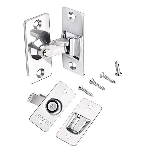 Stainless Door Steel Latches (304 Stainless Steel barn Sliding Door Lock Sliding barn Door Lock and Latch Buckle Bolt Lock cam Lock)