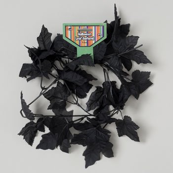 GARLAND BLACK LEAF POLYESTER 4FT GOV HAL TIE ON CARD, Case Pack of 36]()