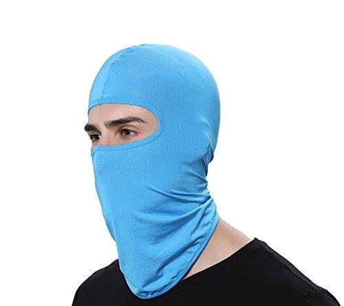 (GAMWAY Ski Mask Balaclava Hood Skullies Beanies Outdoor Sports Cycling Hat (SkyBlue))