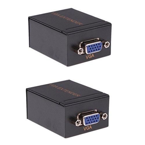 MagiDeal Convertidor de Amplificador de VGA Solo Cable Alambre de Ethernet de RJ45 CAT-5E / 6 Multimedia de Red