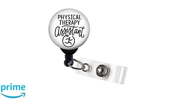 Retractable Badge Reel Name ID Pull Holder SLP Speech Therapist Graduation Gift