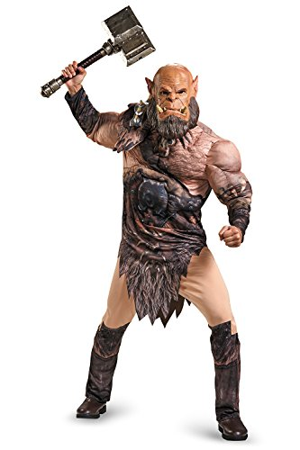 Disguise Men's Warcraft Orgrim Deluxe Muscle Costume