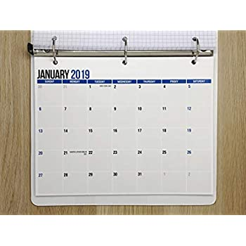 December Calendar 2019 For Binder Amazon.com: SplightPrints 2019 Monthly Calendar Pad for Desk, Wall