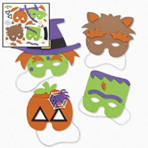 halloween mask craft kit crafts for kids hats masks 1 dozen assorted masks - Kids Halloween Masks