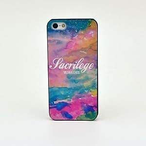 GONGXI-Modelo colorido cielo estrellado caso trasero duro para el iPhone 5/5S