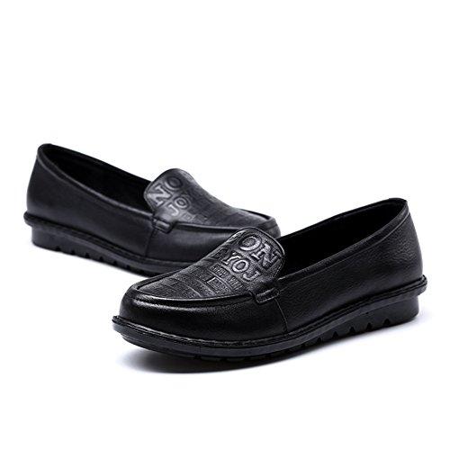 Zapatos de mujer/Las mamás moda zapatos del ocio/ la letra impresa zapatos/Zapatos de fondo suave A