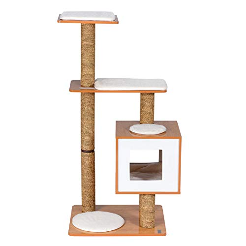 Good Life Modern Deluxe Cat Tree Wood Furniture House Condo 47