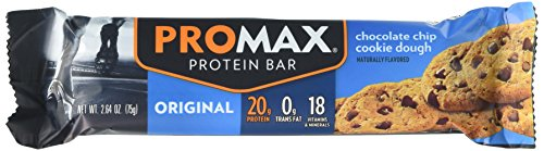 Promax Bar Chocolate (Promax Protein Bar, Chocolate Chip Cookie Dough, 12-Pack)