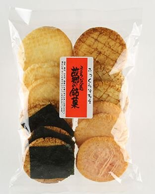 Japan Assort of Rice Cookie Crackers Mix Flavor Seaweed, Soy Sauce, Salad, Black Beans、12ocs, From Kyoto