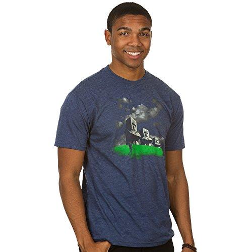 Minecraft Men's Statues Premium T-Shirt (Heather Navy, Medium)