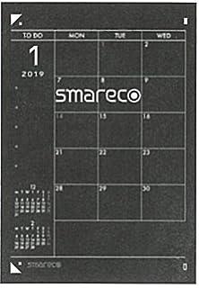 4f72edf192 Amazon | ナカバヤシ スマレコダイアリー 手帳 2018年 10月始まり グレー ...