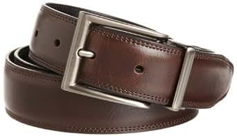 Perry Ellis Men's Resa Junior Dress Belt, Brown, 38