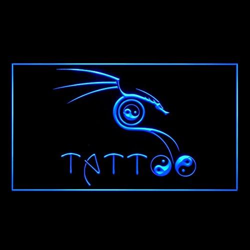 100091 Tribal Wu Tang Ying Yang Tattoo Piercing Display LED Light Sign