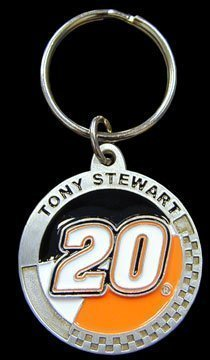 (Tony Stewart Pewter Key Ring - NASCAR NASCAR Fan Shop Sports Team Merchandise)