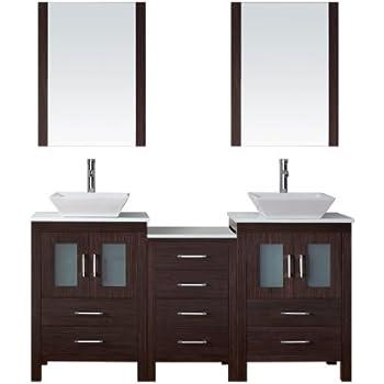 Virtu Usa Kd 70066 Wm Zg Modern 66 Inch Double Sink Bathroom Vanity Set With Polished Chrome