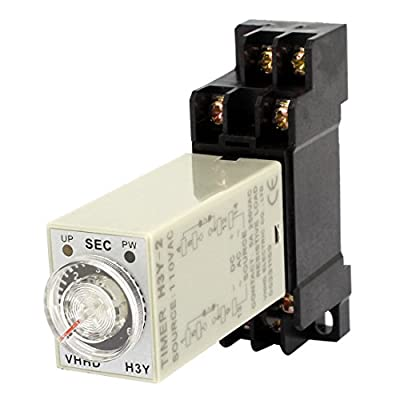uxcell AC 110V 0-6min Knob Control DPDT 8-Pin Time Relay