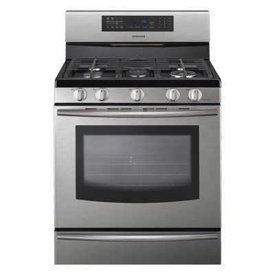 """Samsung FX710 30"""" Freestanding Gas Range with 5 Burners and Safety Lock,"""