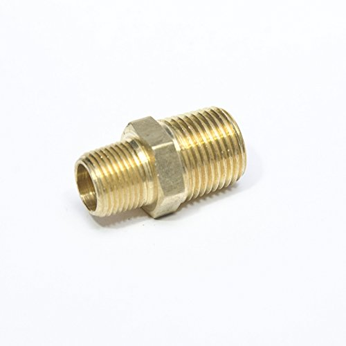 FasParts Brass Hex Pipe Nipple 1/2