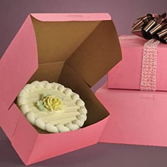 how to make a wedding cake box for cards lot of 10 bakery or cake box pink 10x10x4 w 15885
