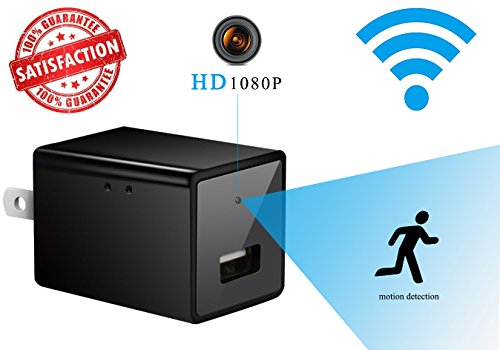 1080P HD Wifi Hidden Camera USB Wall Charger Nanny Spy Camera Adapter With Motion Detection Security Device For The House & The Office