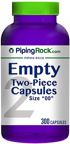 Piping Rock Empty Two Piece Capsules Size 00 300 Gelatin Capsules