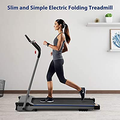 Folding Treadmill Electric Walking Running Machine with Digital Monitor Walking Jogging Machine for Home/Office Use