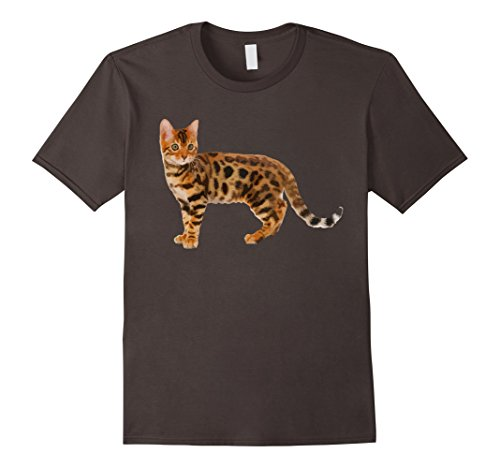 Mens Bengal Cat Shirt - Bengal Cat Cute T shirt 3XL Asphalt