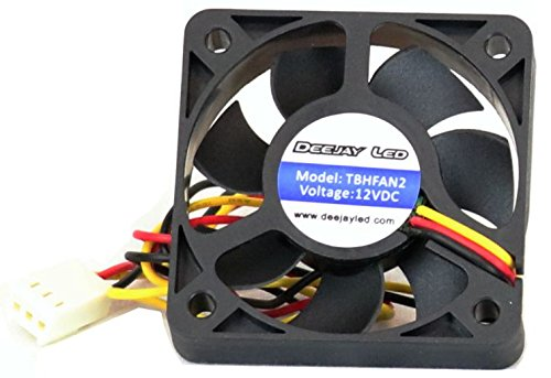 - Top Quality Two-in Car Amplifier Or Computer Cooling Fan Ball Bearing 12 Volt-dc  Holes To Center At 115 mm Diagonal Frame Edge At 163 Mm DEEJAY LED TBHFAN2