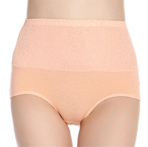 Urban Virgin Womens Cotton Underwear 4 Pack High Waist Briefs No Muffin Top Ladies Stretch Panties Underpants