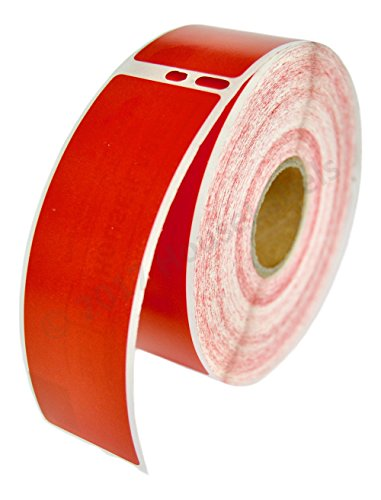 1 Roll; 350 Labels per Roll of DYMO-Compatible 30252 RED Address Labels (1-1/8 x 3-1/2) -- BPA Free!
