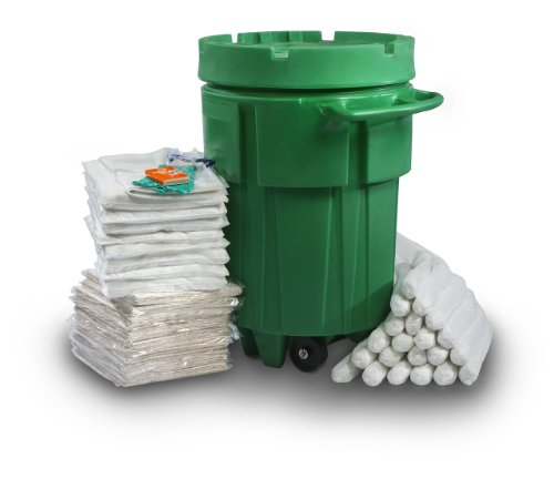 ESP SK-O95W 192 Piece 95 Gallons Oil Only Absorbent Wheeled Ecofriendly Spill Kit, 72 Gallons Absorbency, White by ESP