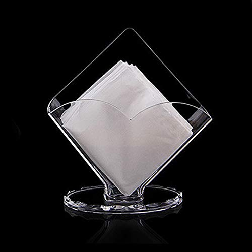ABULDAHI Holder Napkin - Napkin Holder Household Transparent Acrylic Box for Napkins Hotel Creative Acrylic Tissue Box Storage Rack Egl206