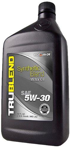 TruSouth Oil 7445001 SAE 5W-30 TruBlend Synthetic Blend Premium Motor Oil - 1 Quart - Case of 12