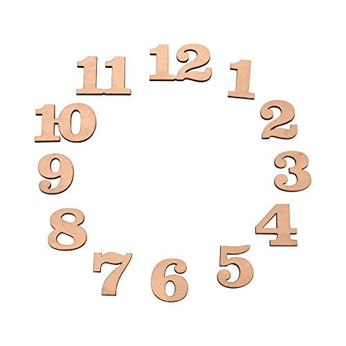 1 inch Wood Clock Number Set of 12 (1 Inch Clock)