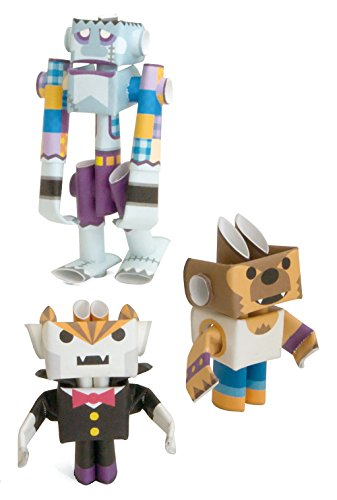 PIPEROID Dracky & Wolffy & Franky Paper Craft Robot kit from Japan - Costume Player Trio