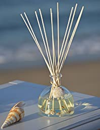 Manu Home NEW! Ocean Oil Reed Diffuser ~ 5oz of FRESH Diffusing Fragrance ~ Beautiful Ocean Décor & Ocean Breeze Scented Diffuser ~ The Scent is Fresh ~ Beach Decor Perfect for Home or Office ~ Nautical Décor ~ Made With Natural Shells ~ Great Gift Idea