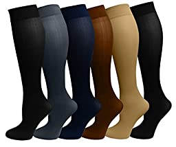 Dr Motion Ladies 6 Pair Pack Compression Socks (Assorted)