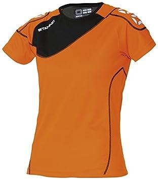 Stanno Montreal - Camiseta de fútbol para mujer (manga corta), mujer, color naranja - naranja y negro, tamaño S: Amazon.es: Deportes y aire libre