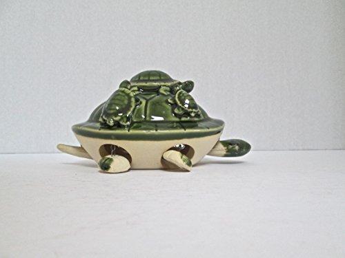 Large Ceramic Turtle Bobble Head Nodding Articulated Figurine for Home Decoration - Bobble Ceramic Head