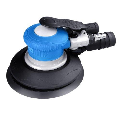Timbertech Druckluft-Scheibenschleifer inkl. 3 Schleifpapierscheiben & Schraubenschlüssel, Schleifmaschine inkl. Staubabsaugventil, Schleifgerät